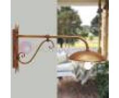 Febo Light Drea Applique Rustico L. 100 Piatto D.37 Lampada Da Esterno Giardino