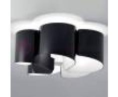 Selene Illuminazione Papiro Plafoniera 5 Luci Cristallo Curvato D.65 Design Moderno