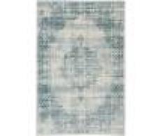 RugVista Tappeto Vintage Jinder 155X230 Shabby Chic/Overdyed Moderno Grigio Chiaro/Blu Turchese/Azzurro