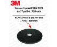 3M PAD 5 PEZZI color Nero da 17 pollici 432 mm lavapavimenti e monospazzole