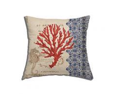 Cuscino arredo Red coral