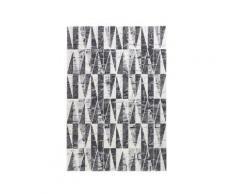 Tappeto bagno / scendiletto serie Elegant 09 - 60x110, grigio/bianco