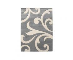 Tappeto bagno/scendiletto Damasko Grey 60x110, grigio/panna