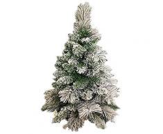 Mini Albero Di Natale Artificiale Innevato 60 Cm Cortina Verde