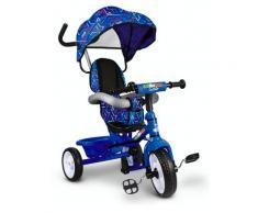 Triciclo Passeggino Con Seggiolino Reversibile Per Bambini Blu