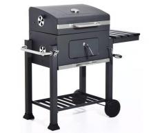 Barbecue A Carbone Carbonella Con Coperchio 115x56x108 Cm Texas Nero