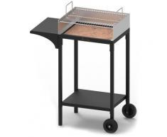 Barbecue A Carbone Carbonella Con Griglia In Acciaio Inox Famur Bk 6 Prime