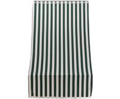 Tenda Da Sole Per Sormonto 140x250 Cm In Poliestere Con Anelli Ranieri A Strisce Verdi