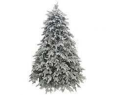 Albero Di Natale Artificiale Innevato 210 Cm 3420 Rami Pino Glitter Ice Floccato