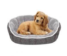 Cuccia Per Cani E Gatti 75x65x20 Cm In Poliestere Scotland Grigio Chiaro