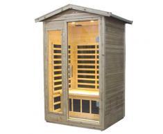 Sauna Finlandese Ad Infrarossi 2 Posti 125x105 Cm In Legno Di Cedro Canadese H188 Vorich Esterno