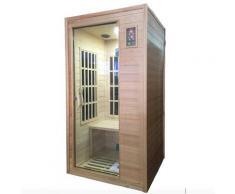 Sauna Finlandese Ad Infrarossi 2 Posti 100x90 Cm In Hemlock Canadese H188 Vorich Rimini