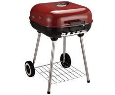 Barbecue A Carbone Carbonella Con Coperchio E Ruote
