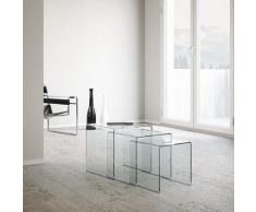 Tavolino In Vetro Modulabile Itamoby Nest Trasparente