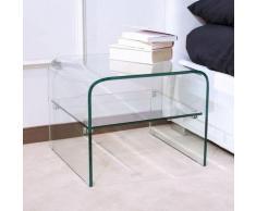 Tavolino In Vetro 50x50x40cm Itamoby Eta Trasparente