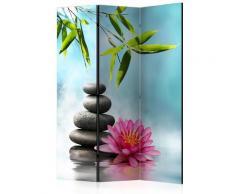 Paravento 3 Pannelli - Water Lily And Zen Stones 135x172cm Erroi