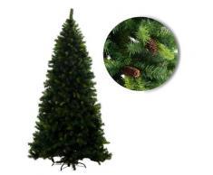 Albero Di Natale Artificiale Con Pigne H270cm Adami Monte Sillara Verde