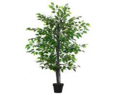 Pianta Artificiale Albero Baniano H145 Cm Con Vaso Verde