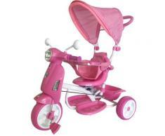 Triciclo Passeggino Con Seggiolino Reversibile Per Bambini Kid Go Rosa