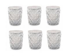 Set 6 Bicchieri Ø8,3x10 Cm In Vetro Villa Deste Marrakech Trasparenti