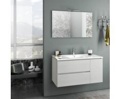 Mobile Da Bagno Sospeso Con Lavabo Specchio E Lampada A Led Tft Febe Bianco Rè Di Londra