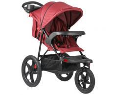 Passeggino Leggero Per Bambini 3 Ruote Pieghevole Reclinabile Rosso