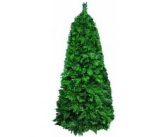 Albero Di Natale Artificiale 240 Cm 1187 Punte Pino Sweden Slim Verde