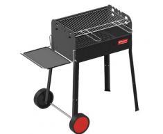 Barbecue A Carbone Carbonella Con Ruote E Mensola 70x41x80 Cm Ferraboli Iseo