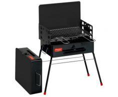 Barbecue A Carbone Carbonella Portatile A Valigetta 52x30x73 Cm Ferraboli Camping
