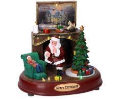 Babbo Natale In Resina Con Luci E Suoni 22x13,5xh21 Cm Adami