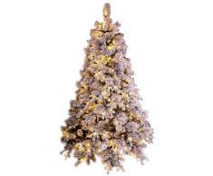 Albero Di Natale Artificiale Innevato 240 Cm 2850 Rami 750 Led Bianco Caldo Elbert