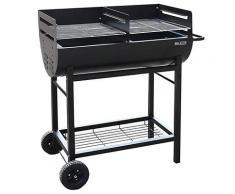 Barbecue A Carbone Carbonella 96x44x93 Cm In Acciaio 2 Ruote Master Grill