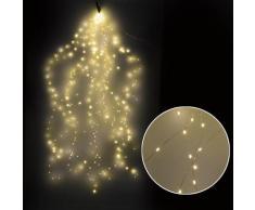 Luci Di Natale A Cascata 350 Microled H2m Bianco Caldo Da Esterno-interno Adami