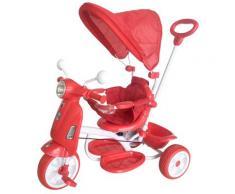 Triciclo Passeggino Con Seggiolino Reversibile Per Bambini Kid Go Rosso