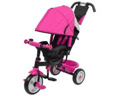 Passeggino Triciclo Per Bambini Kids Joy Sprint Fucsia