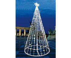 Albero Di Natale Da Esterno 2m Con Led Blu Con Flash Bianco Style