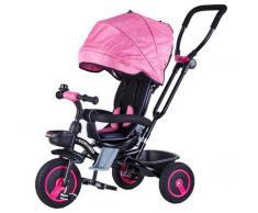 Passeggino Triciclo Seggiolino Reversibile 4 In 1 Boso Happy Kids Rosa