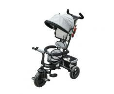 Passeggino Triciclo Per Bambini Pieghevole Grigio