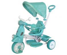 Triciclo Passeggino Con Seggiolino Reversibile Per Bambini Verde
