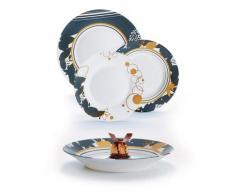 Servizio Piatti 18 Pezzi In Opale Decorato Luminarc Tavola Orme
