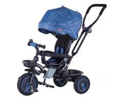 Passeggino Triciclo Seggiolino Reversibile 4 In 1 Boso Happy Kids Blu
