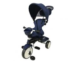 Passeggino Triciclo Per Bambini Passeggino Comfort 4 In 1 Happy Kids Blu