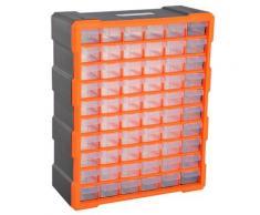 Cassettiera Box Per Accessori Minuteria Arancione 38x16x47.5 Cm