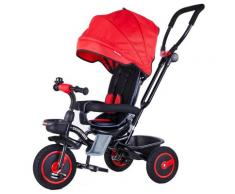 Passeggino Triciclo Seggiolino Reversibile 4 In 1 Boso Happy Kids Rosso