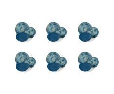 Servizio Piatti 18 Pezzi In Porcellana E Gres Villa Deste Blue Dream