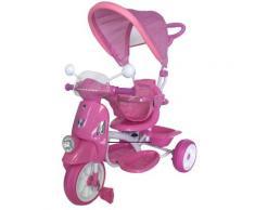 Triciclo Passeggino Con Seggiolino Reversibile Per Bambini Rosa