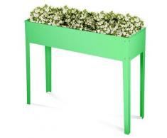 Fioriera Orto Rialzato Da Giardino 60x30x80 Cm In Metallo Verde