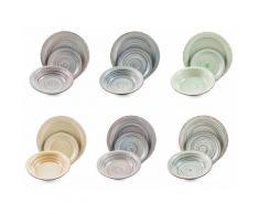 Servizio Piatti 18 Pezzi In Stoneware Soriani Sand Multicolor