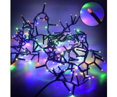 Luci Di Natale 800 Led 16m Con Controller Multicolor Da Esterno Adami