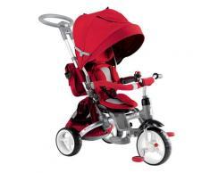 Triciclo Passeggino Seggiolino Reversibile 6in1 Happy Kids Rosso